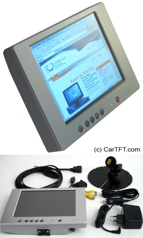 "800TSV -- TFT 8"" -- VGA and PAL/NTSC -- with Touchscreen <b>USB</b> and integ. Speakers [silver]"