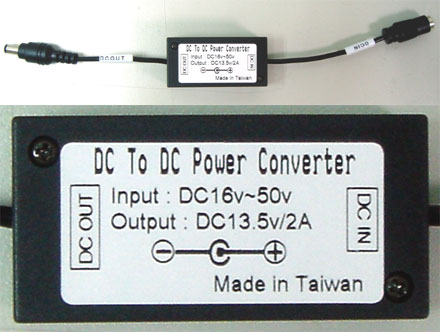 CTF-DCDC-24V TFT display power-adapter f. trucks (16-50VDC)