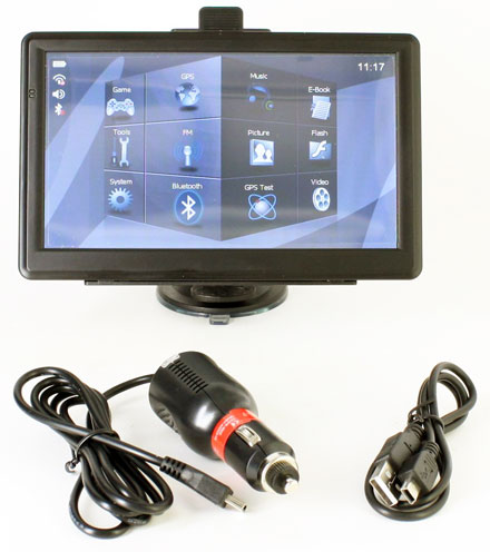 "[CTFPND-1 <b>V5</b>]  7"" PND (FM, AV-IN, BT, 800x480, 800Mhz/256MB RAM/8GB Flash)"