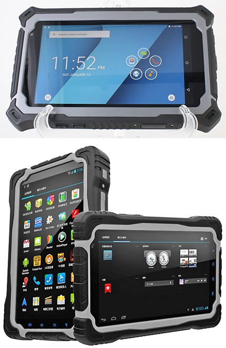 "CTFPND-8C (7"" Android TabletPC/PND, Waterproof IP67, Ruggedized, 1.5Ghz Quad CPU/3GB RAM, GPS/WLAN/BT/3G/4G, Android 5.1)"