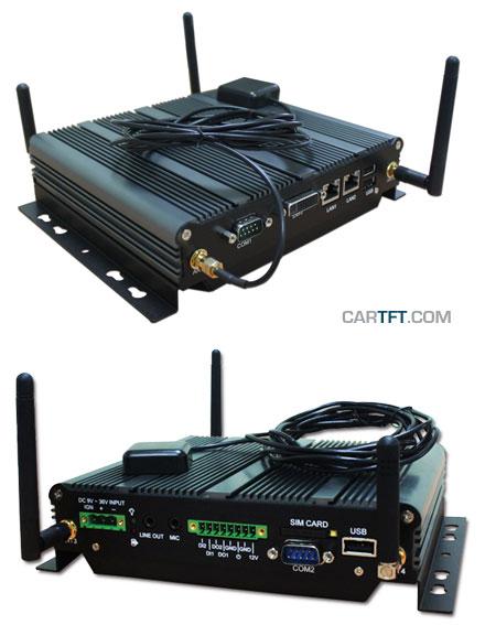 FleetPC-4 V2 Car-PC (Intel Atom 1.6Ghz, 1GB RAM, Autostart-Controller, 9-36V Automotive PSU, GPS) [<b>FANLESS</b>]