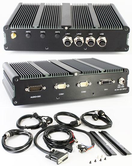 FleetPC-5-IP65 Car-PC (AMD G-T56N 2x1.65Ghz, 2GB RAM, Autostart-Controller, 9-32V Automotive Netzteil, GPS, Waterproof/Dustproof) [<b>FANLESS</b>]