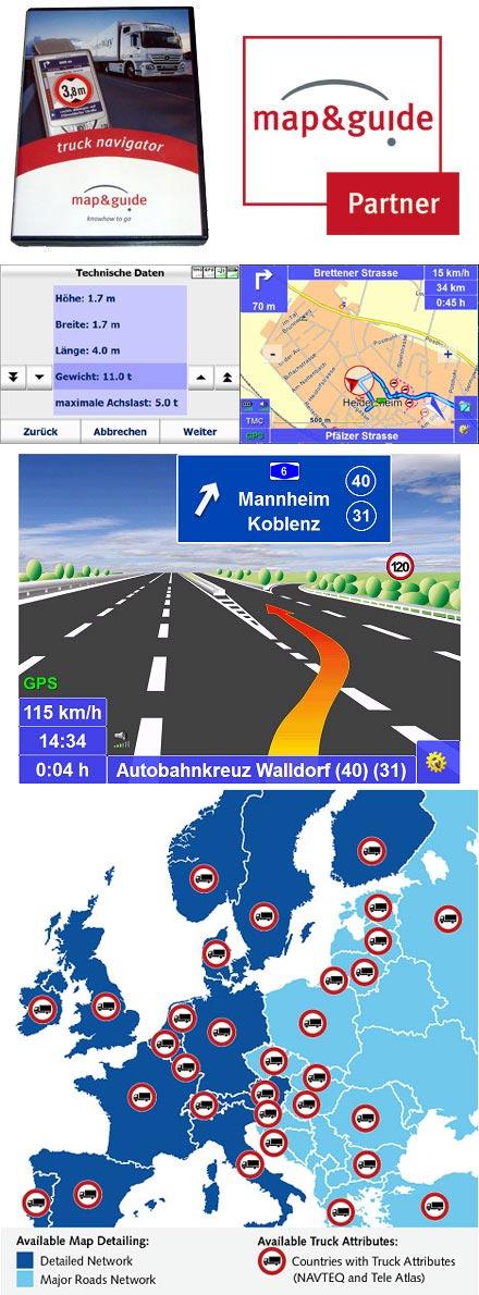 PTV TruckNavigator 10.0 (Europe incl. East-Europe, Speech, TMC) [PDA/PC]